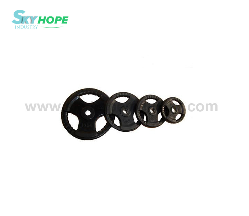 Tri-grip Rubber Barbell Plate