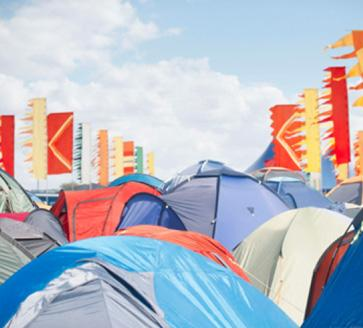 Tents and sleeping bags